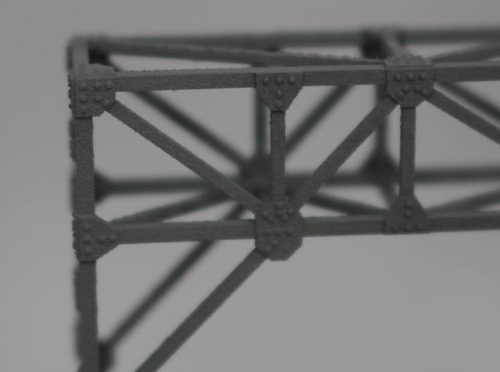 N Scale Signal Bridge Gantry 2 tracks 2pc 3d printed Detail of the rivets