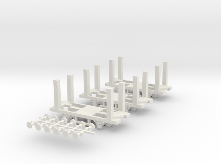 Wagon Chassis Pack 2 - 3 Couverte chassis - Nm - 1 3d printed