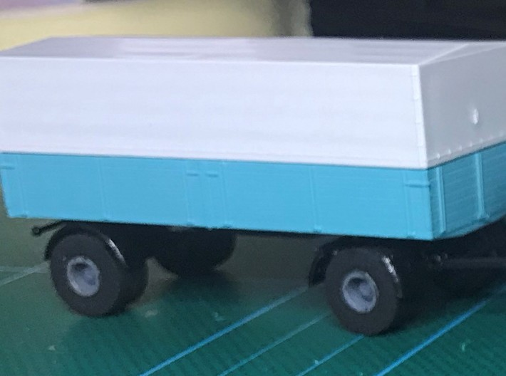 Truck Tires Brekina 3d printed Trailer fitted with printed rims and tires.