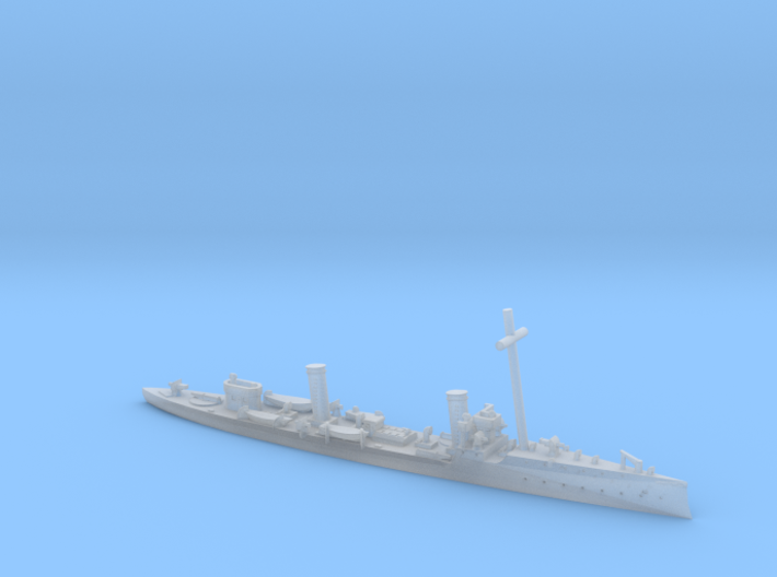 SMS Magnet 1/1250 (with mast) 3d printed