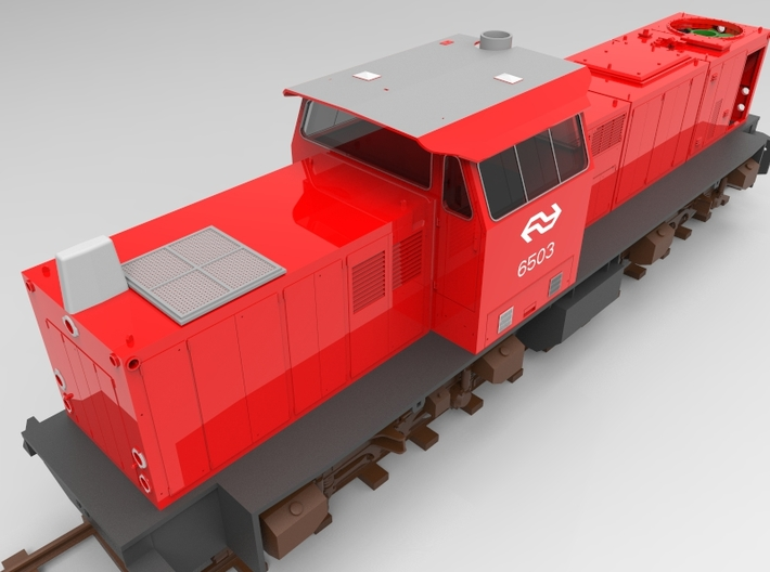 NS 6400 cab inrichting. Scale 1 (1:32) 3d printed