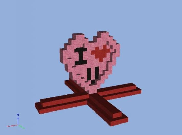 I Heart You stand 3d printed