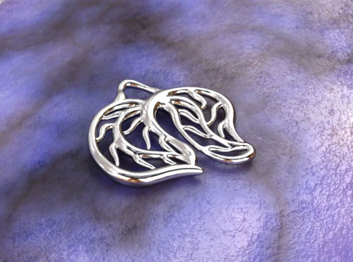 Leaves 3d printed silver material