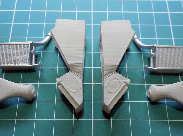 late version air ducts for the McLaren MP4/4 1/20  3d printed