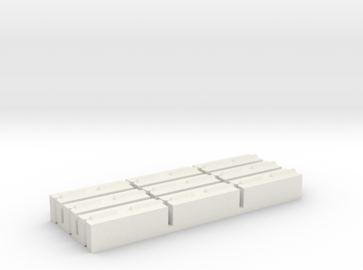 1/64 Concrete Push Blocks 3d printed
