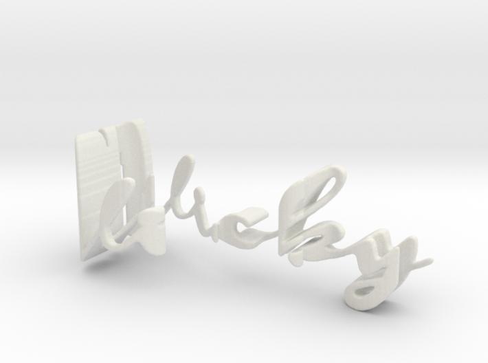 3dWordFlip: Vicky/Eric 3d printed