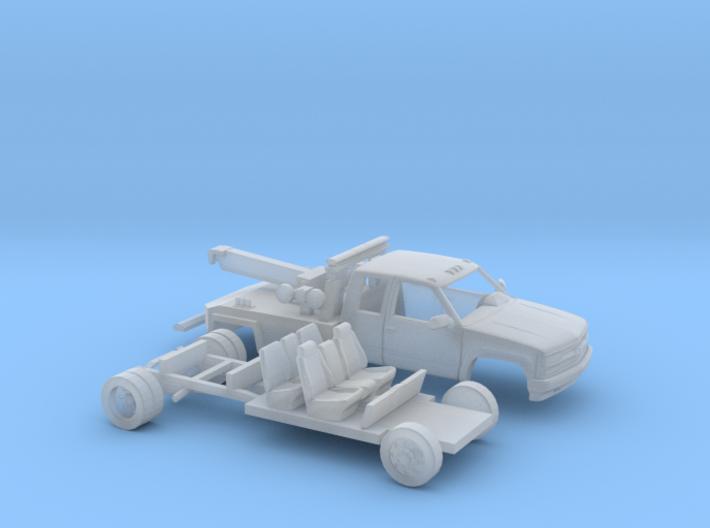 1/87 1990-98 Chevy Silverado ExtCab Wrecker Kit 3d printed