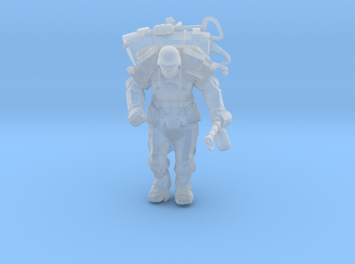 Mutant with Flamethrower 3d printed