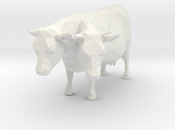 2-head Cow 3d printed