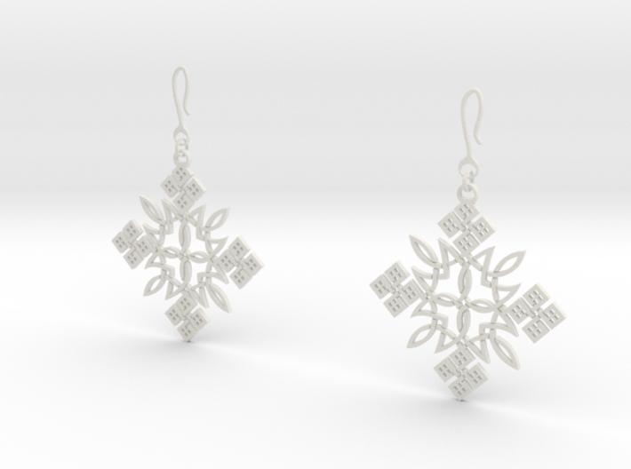 Habesha Cross Earrings 3d printed