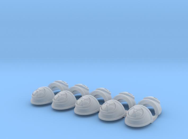 10x Radioactive - G:4a Shoulder Pads 3d printed