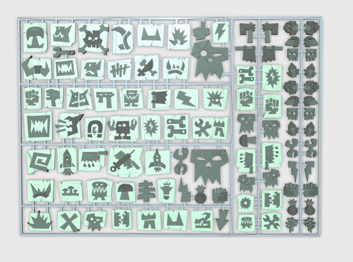 Oglyph Set 01 : Vehicle Insignia pack 3d printed