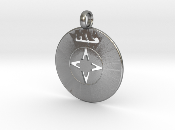 Assyrian Shield Pendent 3d printed