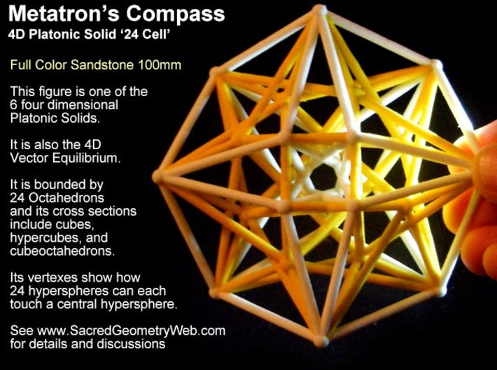 Sacred Geometry: Metatron's Compass 100mm - 4D Vec 3d printed