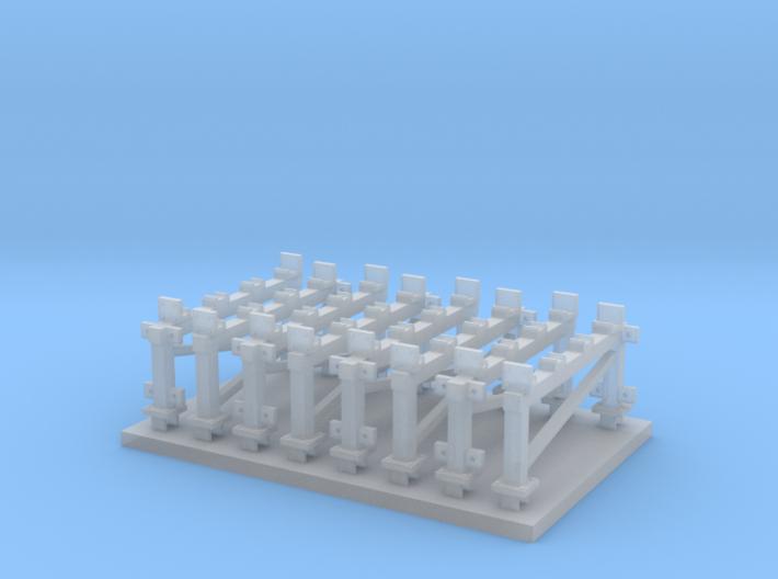 Station Platform Supports 3d printed