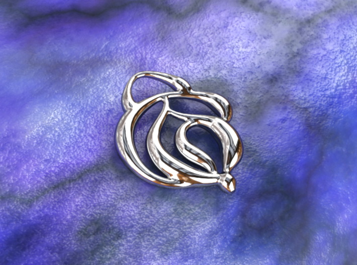 Touch of nature 3d printed silver material