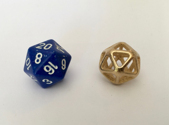 Twenty Sided Wireframe Die 3d printed