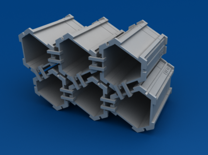 6-Pack of Star Wars Loot Crate Wargaming Terrain 3d printed Hollow shell to save print costs