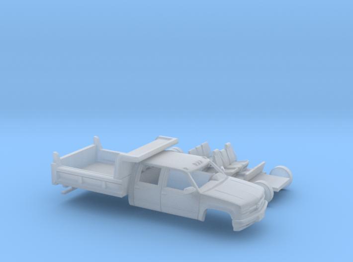 1/160 1990-98 Chevrolet Silverado CrewCab Dump Kit 3d printed