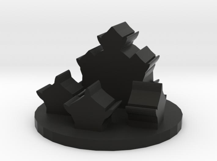 Game Piece, Orc Village Token 3d printed
