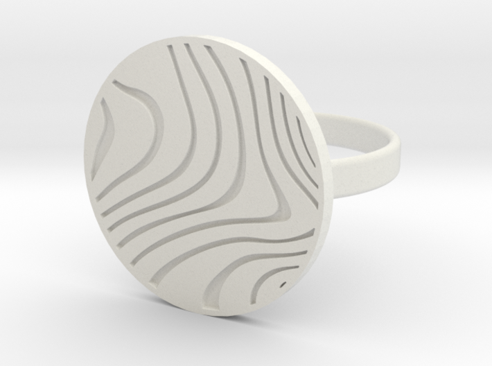 Wavey Ring // Pewdiepie inspired // Size 6.5 3d printed