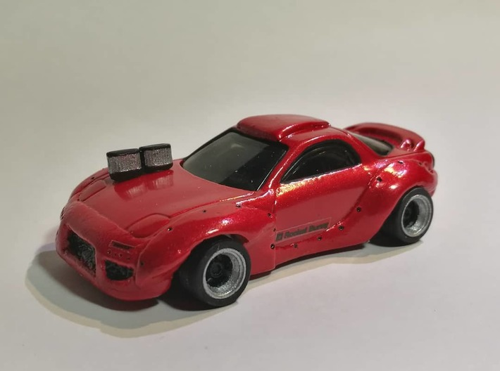 1/64 air filters 3d printed 1/64 custom hot wheels with air filters