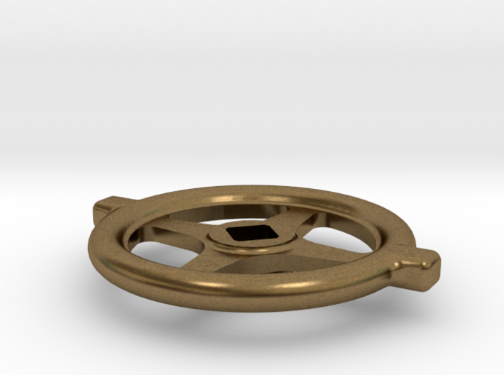 "1.1"" scale South African Large Valve Handwheel 3d printed"
