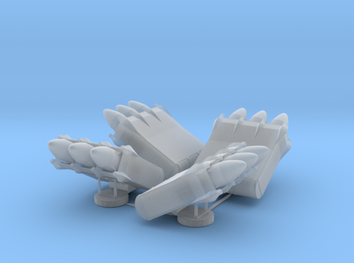 4x 3-pack Missile Launcher 3d printed