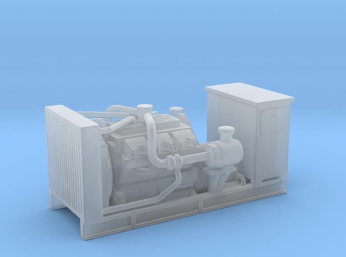 1/160th Diesel Electric Generator w Cabinet 3d printed
