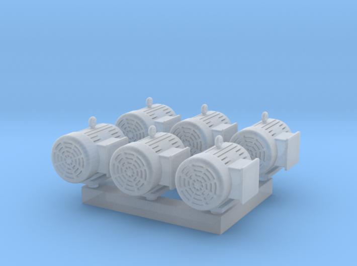 1/64 7.5 Horsepower Electric Motor 3d printed