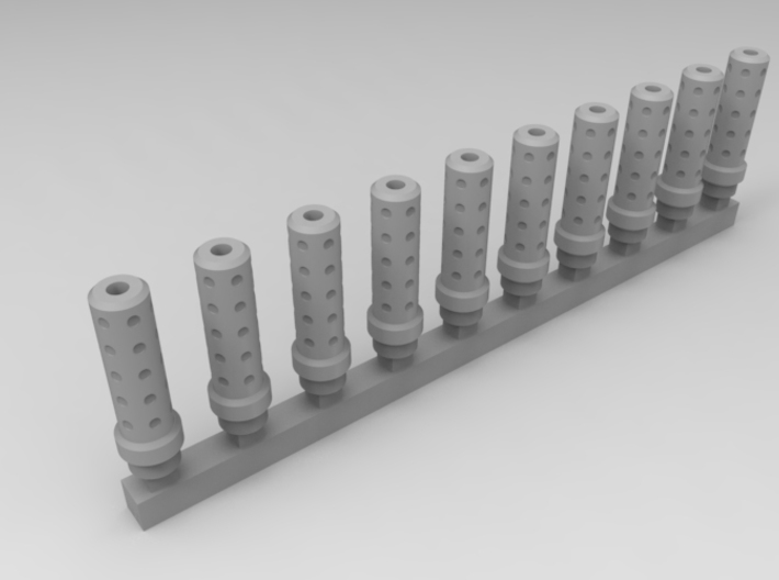 Bolt Rifle Suppressors Dimple v1 x10 3d printed