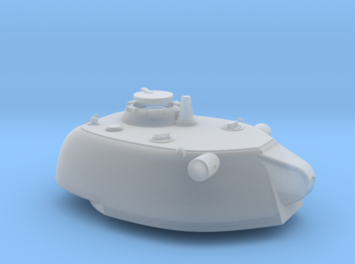 1:72 Paper Panzer E-50 128mm ausf D Turret 3d printed