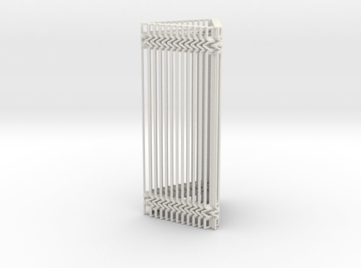 Triangular Accordion Column Openwork Design 3d printed