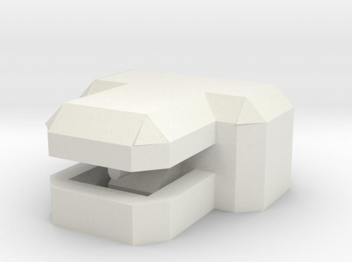 "1/285 ""T"" Concrete Bunker 3d printed"