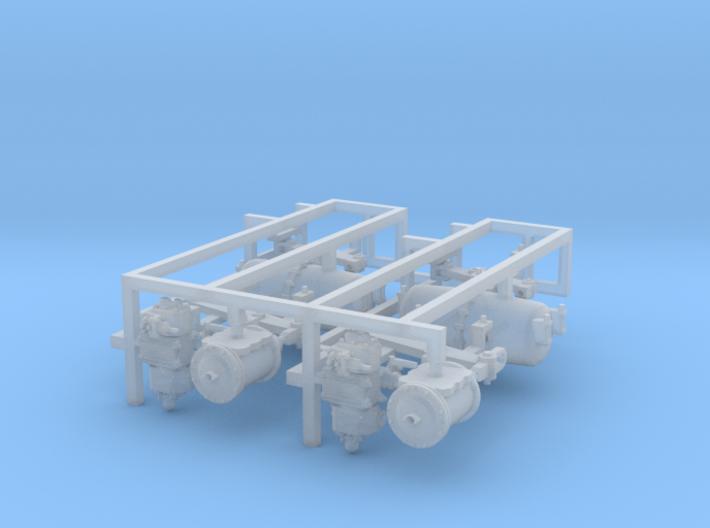 HO AB Brake System Kit 3d printed