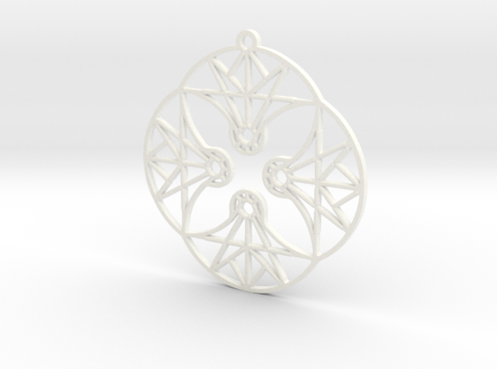 DoodleFan Earring or Pendant (Circle) 3d printed
