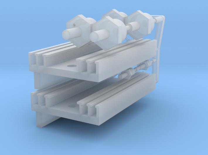 Eaglemoss delorean 1:8 rectifier heatsinks 3d printed