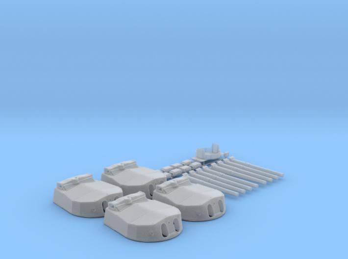 "1/128 HMS Hood 15"" (38.1 cm) Mark II Turrets 1941 3d printed 1/128 HMS Hood 15"" (38.1 cm) Mark II Turrets 1941"
