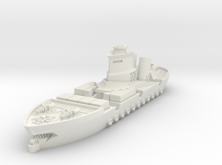 Rostock Class Armoured Supply Carrier 3d printed