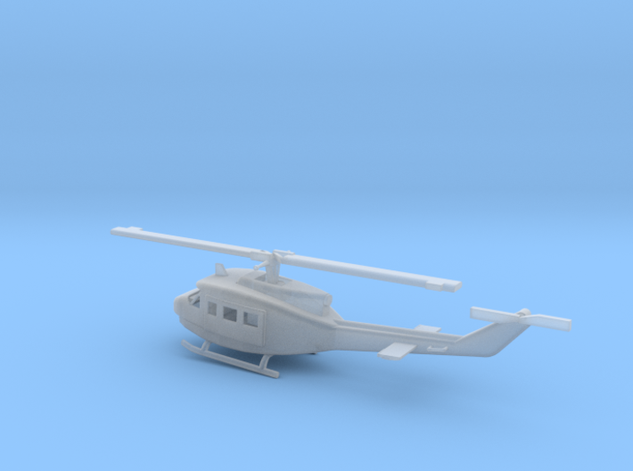 1/87 Scale UH-1D Model 3d printed