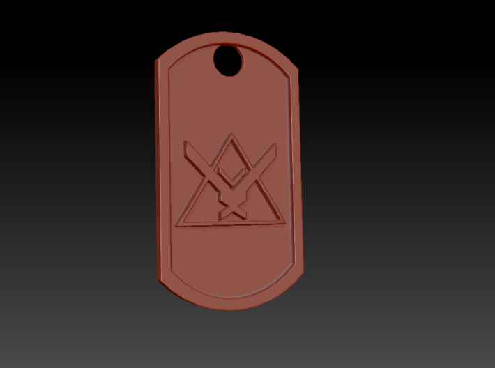 Halo Reach 'Noble Team' Themed Dog Tag 3d printed