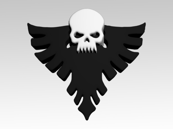 Skull & Eagle Shoulder Icons x50 3d printed Product is sold unpainted.