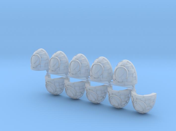 Bloodied Heart Cuad Shoulder Pads Mk7/8 R x10 3d printed