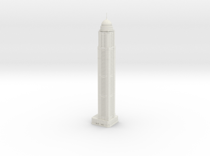Princess Tower (1:1800) 3d printed Assembled model.