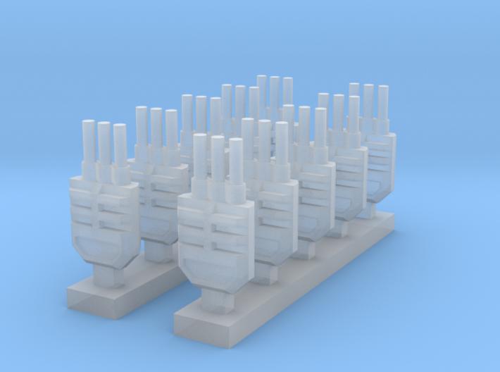 Three Barreled Turret x10 3d printed