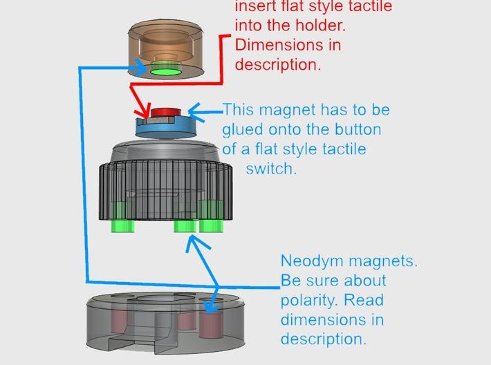 Mast. Repl. Anakin ROTS - ButtonBase Bottom 3d printed