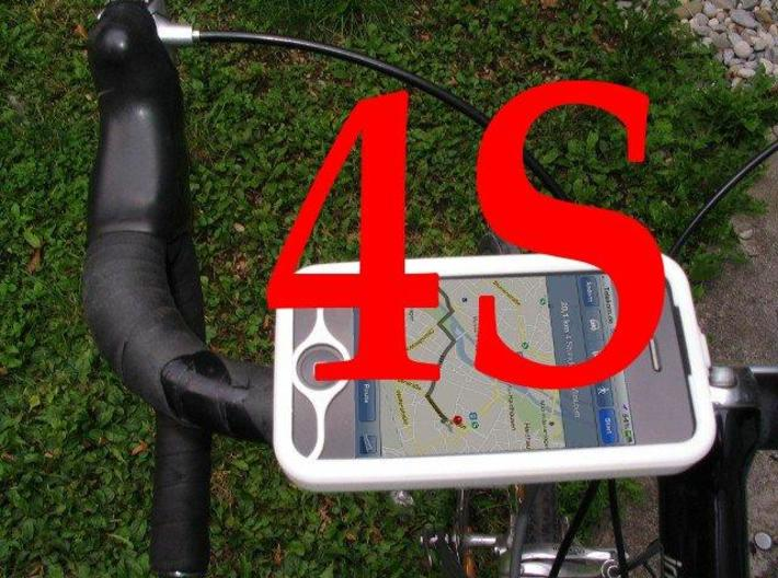 "iPhone 4S bike mount assembly 1"" 3d printed"