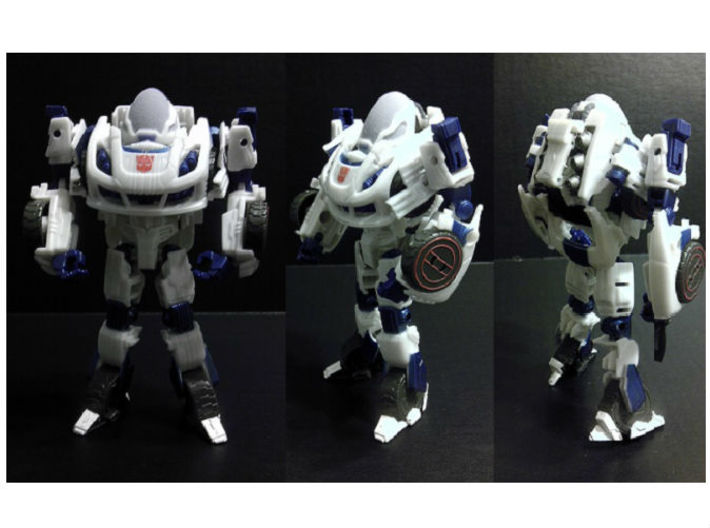 Exosuit Dome For TF FOC JAZZ 3d printed Full Color Sandston Dome on TF Deluxe FOC Jazz (Robot Mode)