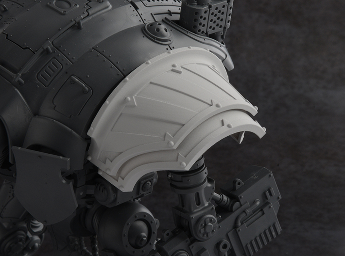 Hazard Warriors - Left Shoulder Pad 3d printed