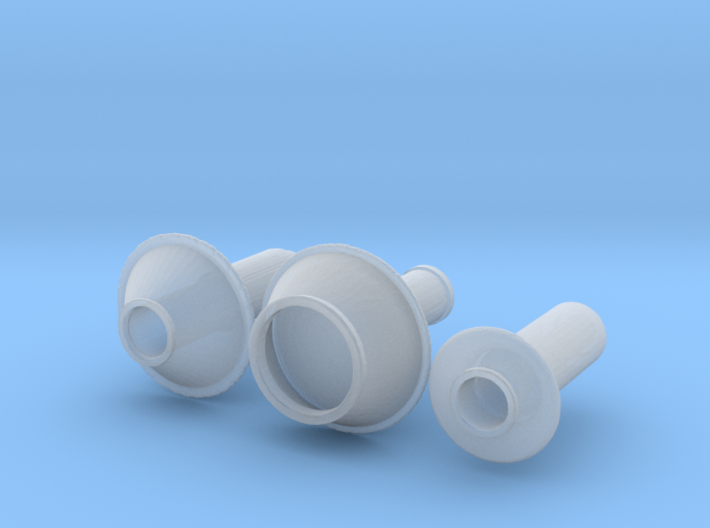 Smokestack assortment 3 N scale 3d printed